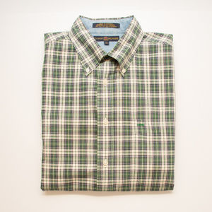 Tommy Hilfiger Green Plaid Long Sleeve Button Down